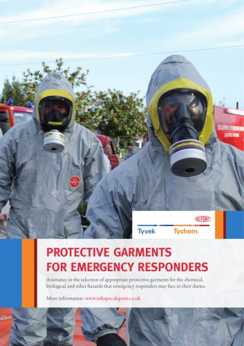 PROTECTIVE GARMENTS  FOR EMERGENCY RESPONDERS