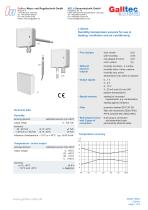 Humidity and Temperature Sensors for HVAC L-series