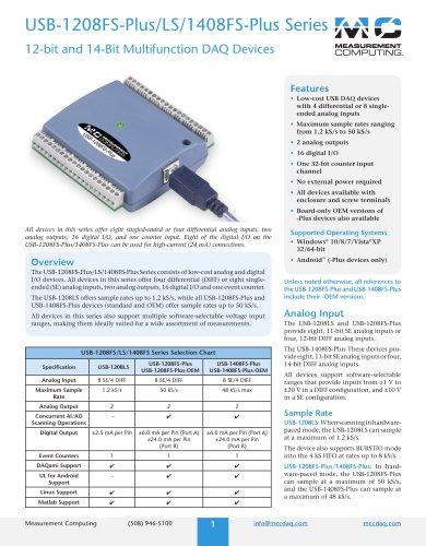 USB-1208FS-Plus/LS/1408FS-Plus Series
