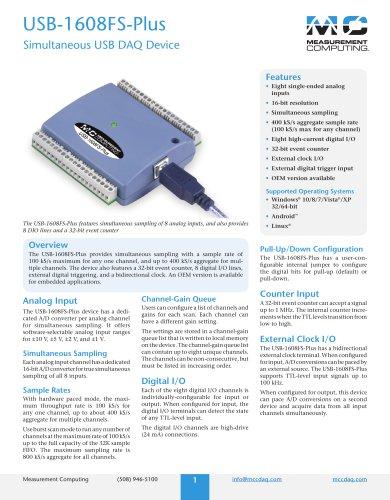 USB-1608FS-Plus