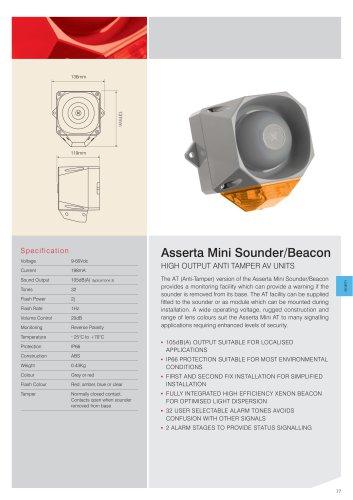 Asserta Mini 9-60Vdc AT Sounder/Beacon