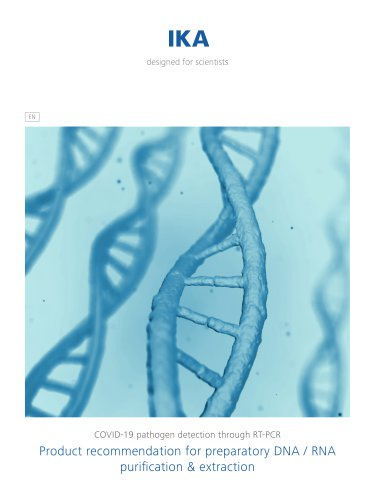 Product recommendation for preparatory DNA / RNA purification & extraction