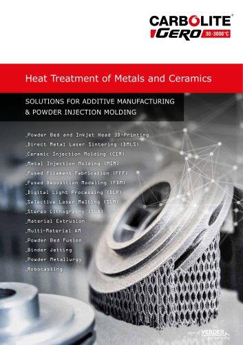 Heat Treatment of Metals and Ceramics