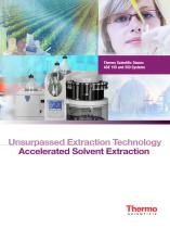 ASE Series Unsurpassed Extraction Technolog  Accelerated Solvent Extractors Brochure