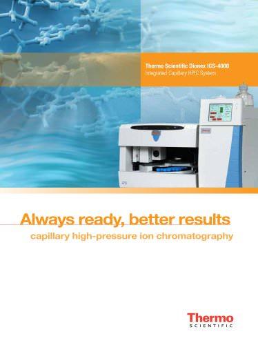 Dionex ICS-4000 Capillary HPIC Brochure
