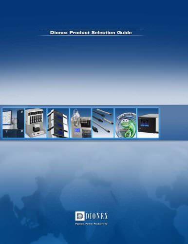 Dionex Product Selection Guide