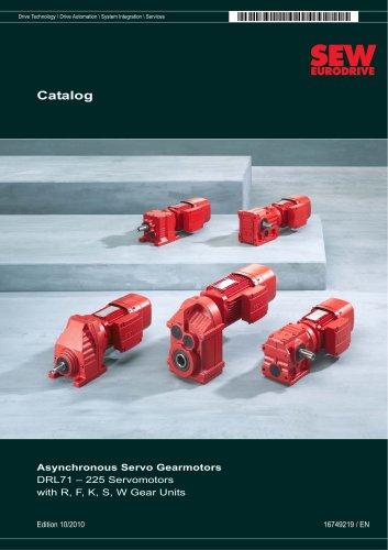 Asynchronous Servo Gearmotors Catalog
