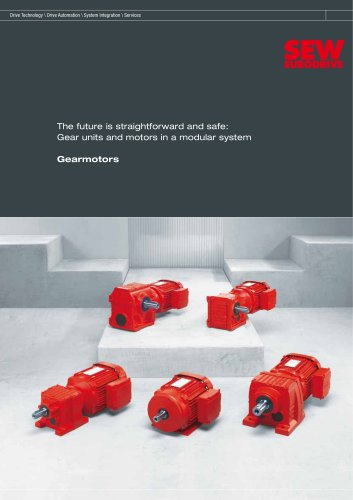 The future is straightforward and safe: Gear units and motors in a modular system Gearmotors