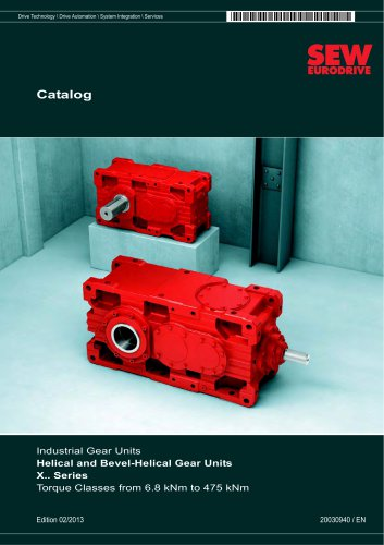 Industrial Gear Units: Helical and Bevel-Helical Gear Units X.. Series Horizontal