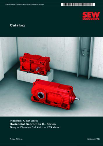 Industrial Gear Units: Horizontal Gear Units X.. Series