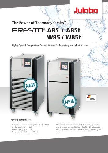 JULABO PRESTO A85 / A85t / W85 / W85t Process Circulators