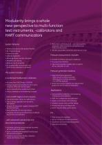 Advanced modular calibrator dpi 620 brochure - 2
