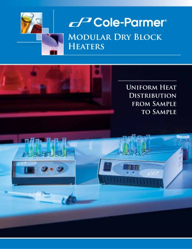 Cole-Parmer® dry block heaters brochure