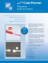 Cole-Parmer® premium luer fittings - 1