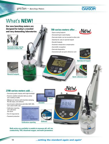 pH/Ion Benchtop Meters