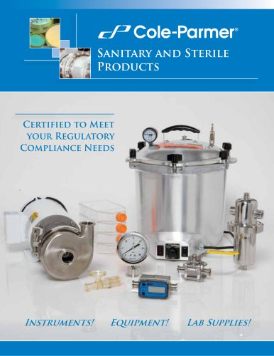 Sanitary and sterile products brochure