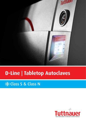 D-Line | Tabletop Autoclaves