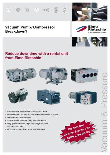 Vacuum Pump / Compressor Breakdown?