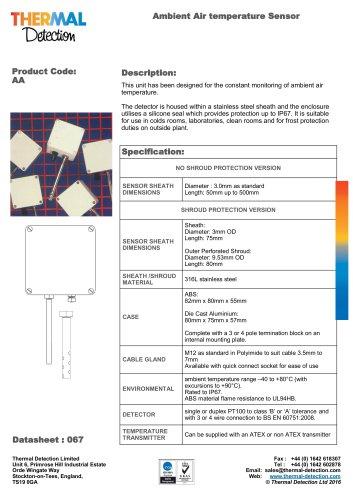 Ambient Air Temperature Sensor