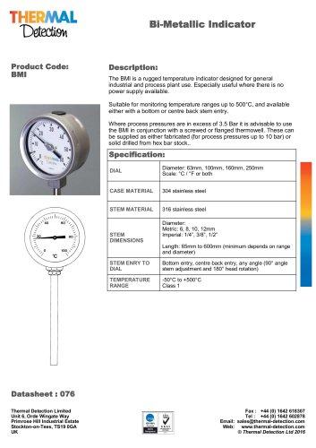 Bi-metal Temperature Indicator (BMI)