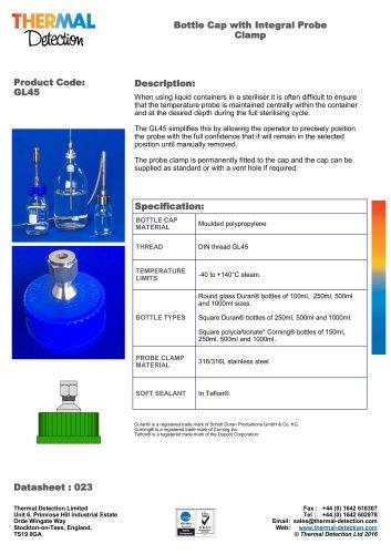 Bottle Cap Gland for Temperature Probe GL45