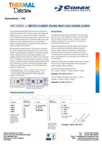 Conax Multiple Element Feedthrough (MHC)