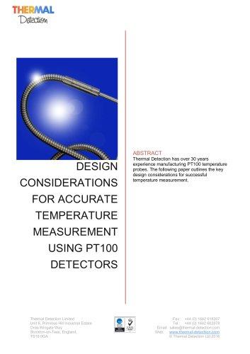 Design Considerations for Successful Temperature Measurement Using PT100 Detectors