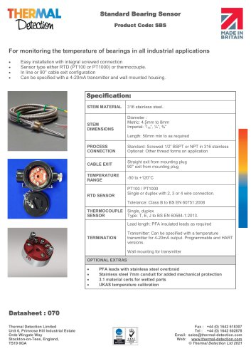 Standard Bearing Sensor (SBS)