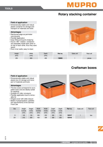 Rotary stacking container