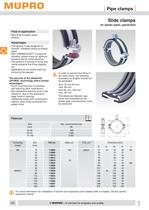 Slide clamps for plastic pipes, galvanised