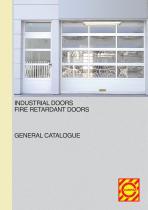 INDUSTRIAL DOORS - FIRE RETARDANT DOORS - GENERAL CATALOGUE
