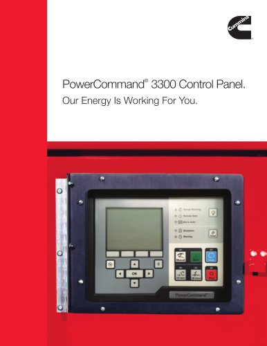 PowerCommand 3300 Control Panel Brochure Cummins Inc