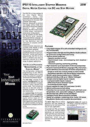 IPS110 INTELLIGENT STEPPER MINIDRIVE