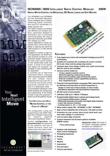 ISCM4805 / 8005 INTELLIGENT SERVO CONTROL MODULES