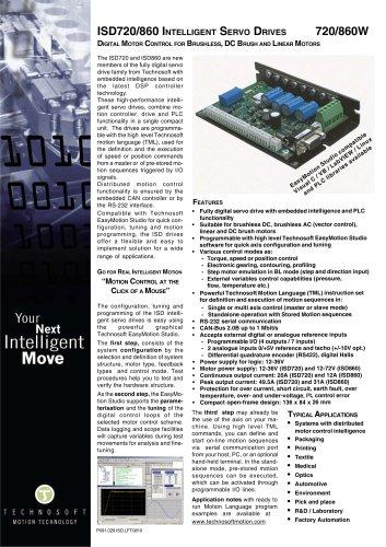 ISD720/860 INTELLIGENT SERVO DRIVES