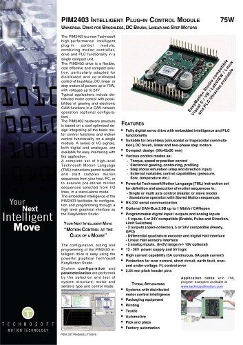 PIM2403 INTELLIGENT PLUG-IN CONTROL MODULE