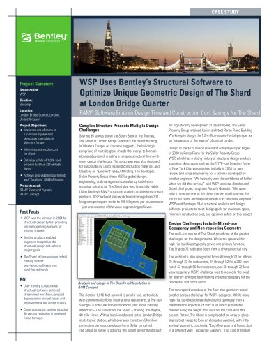WSP-Shard_Case_Study - Bentley Systems Europe B V  - PDF