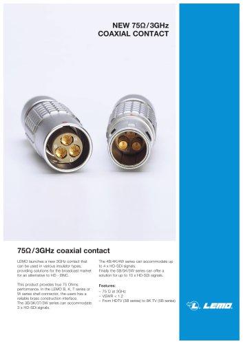 75Ω/3GHz coaxial contact