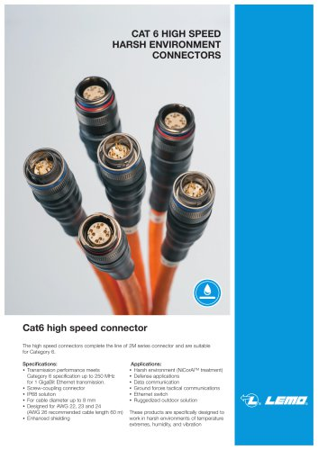 CAT 6 HIGH SPEED HARSH ENVIRONMENT CONNECTORS