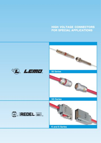 HIGH VOLTAGE CONNECTORS FOR SPECIAL APPLICATIONS