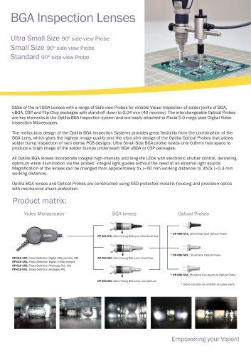 Optilia's BGA Lenses and Optical Probes
