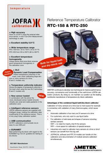 158/250 Dry-block / Liquid Bath Calibrator