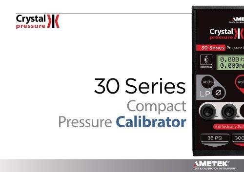 30 Series Compact Pressure Calibrator