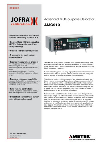 AMC910 - Signal calibrator