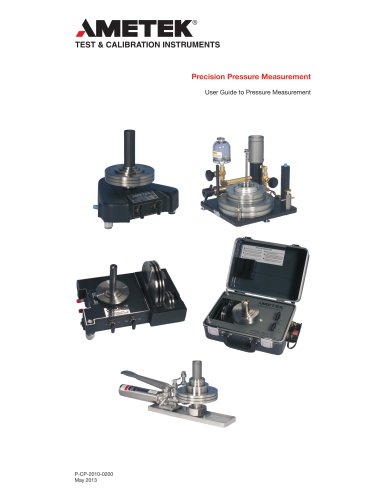 Ametek Precision Deadweight Pressure Measurement