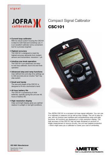 CSC101 - Signal Calibrator