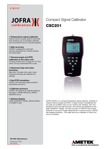 CSC201  - Signal calibrator