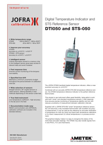 DTI-050 and STS-050 reference sensors