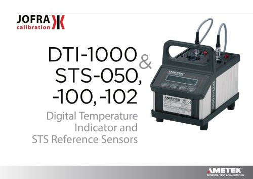 DTI-1000 and STS-100 reference sensors