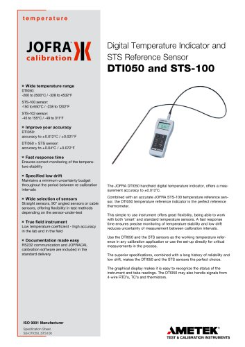 DTI050 and STS-100 reference sensors